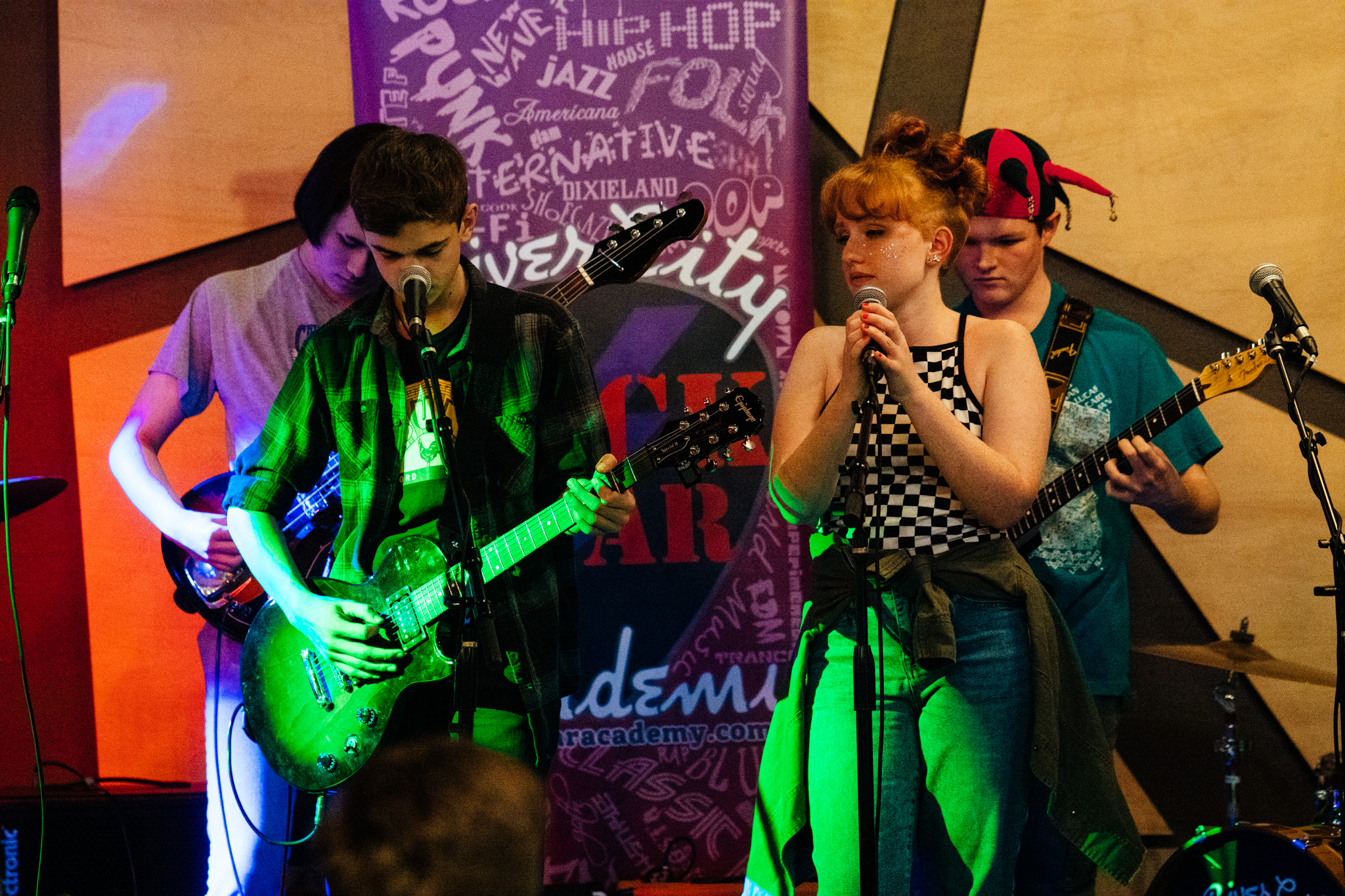 The Royals performing at Venti's this past March. The Royals perform at 20 or more community events, private parties, special events, and opening for local and touring bands during the year.