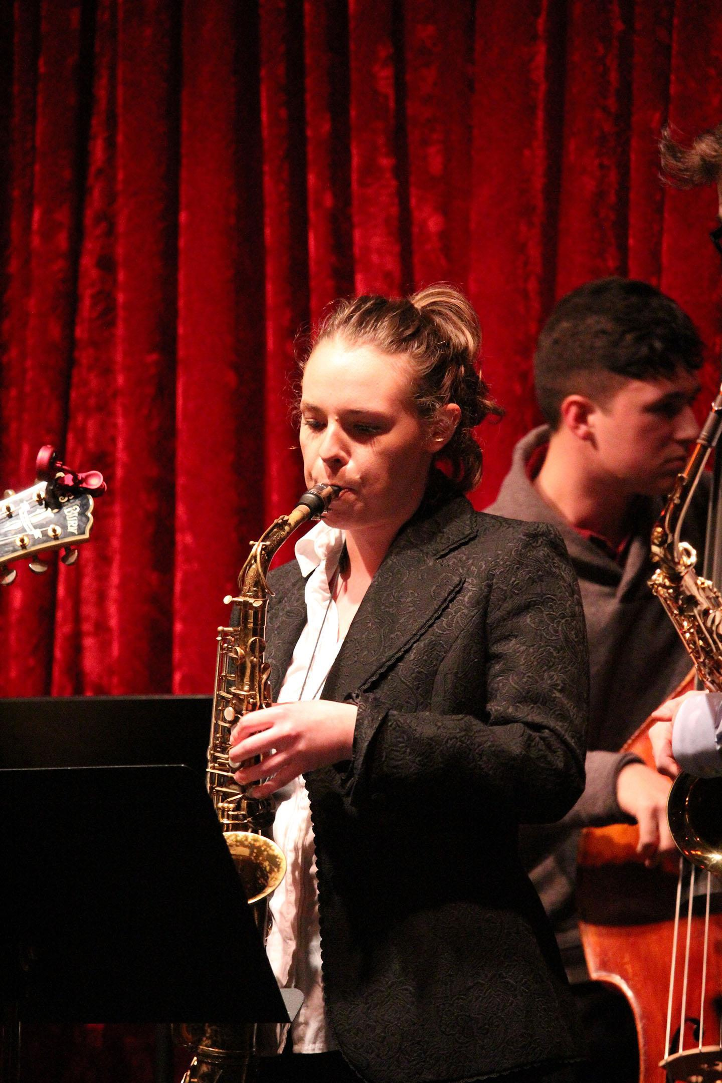 Olivia Fields - Saxophone player extraordinaire from Portland teaches all skill levels and ages and styles from jazz, classical repertoire, funk, soul, rock and pop. Learn more about Olivia.