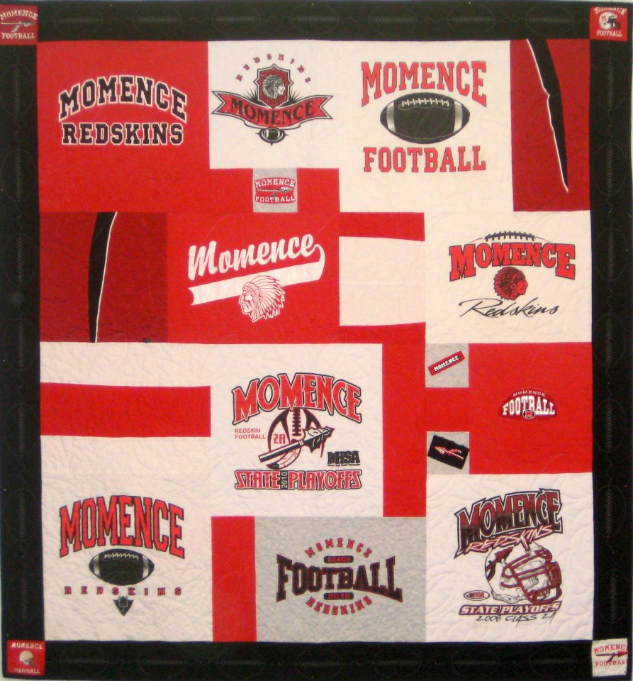 Momence High School T-Shirt Quilt