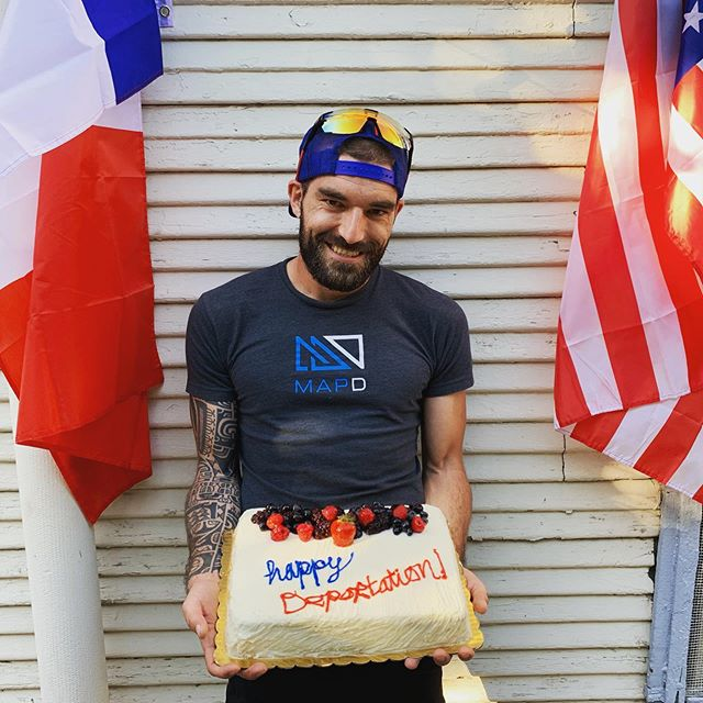 Happy deportation to our Flying Frenchman @gcalmettes! We love you and can't wait to do more silly things with you again soon. #🇫🇷❌🇺🇸