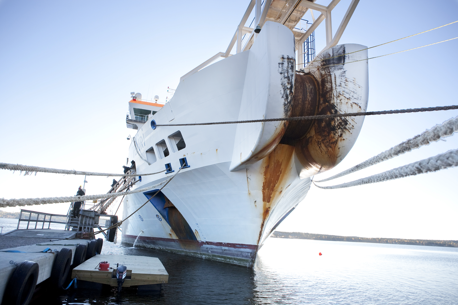Port for Submarine cable,Hudiksvall, Sweden