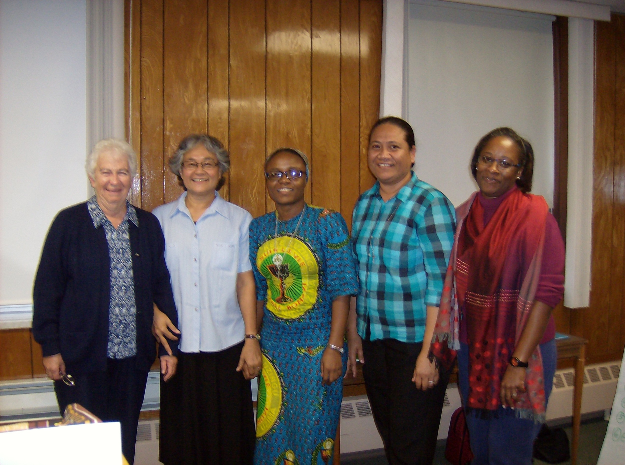 Delegates elected to attend the General Chapter in Rome in March 2016: Sisters. Mary Jane Kenney, Palepa Ioane, Esther N'sanda, Helen Muller and Michelle DeSilva.
