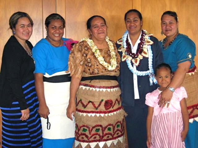 Sister Mele Senitila Latu (2nd from right) with family members on her profession day in New Zealand in 2012. Sister is now serving in Madagascar.