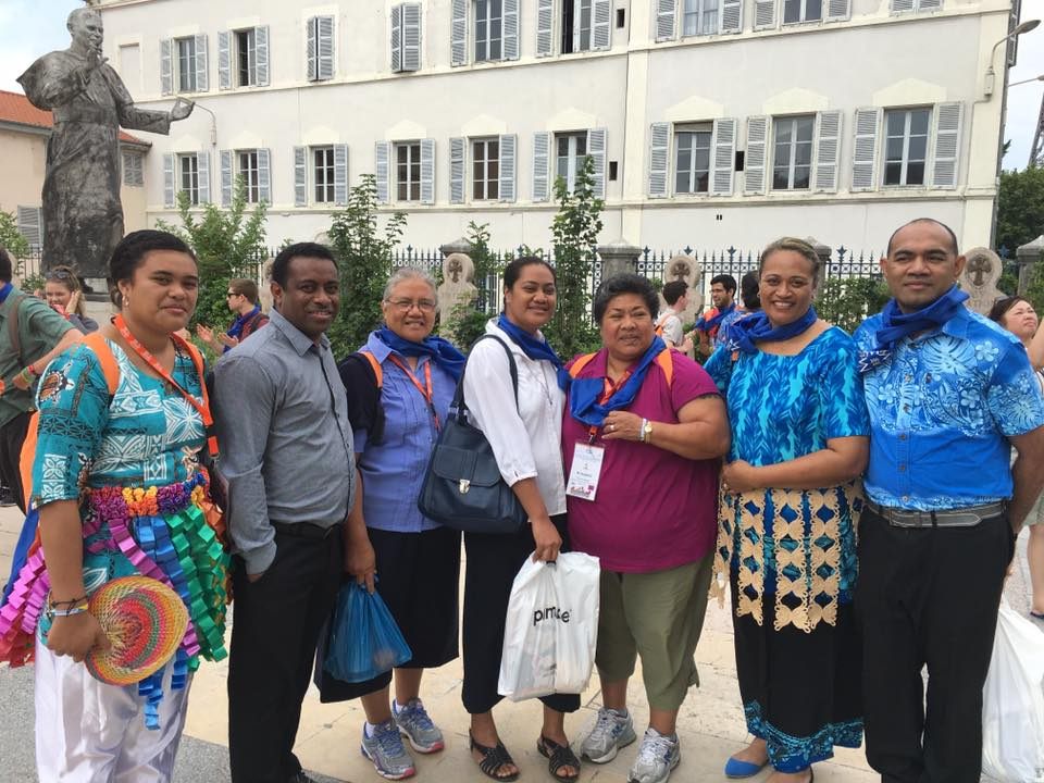 Marists from the Pacific Islands gather at Fourvière