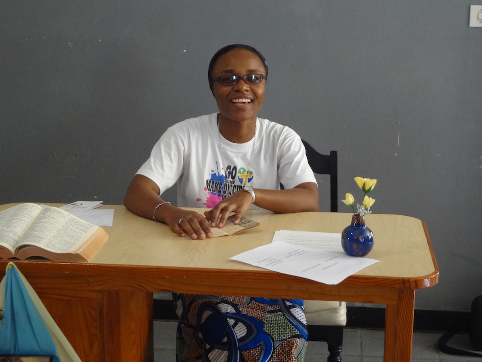 Sr Esther N'Sanda, from the Democratic Republic of the Congo, has been working in Jamaica as a pastoral minister for several years.  She has now begun her professional studies as a teacher at St Joseph's Teacher Training College in Kingston.