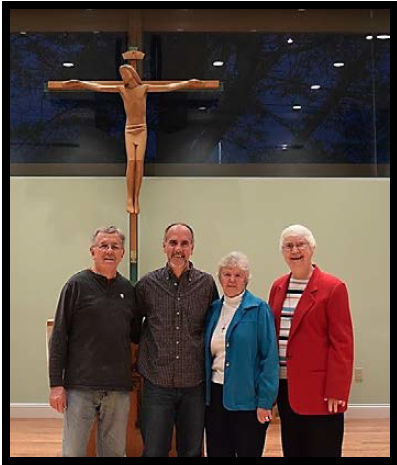 Marist Fathers John and Kevin, and Sisters Christina and Judy