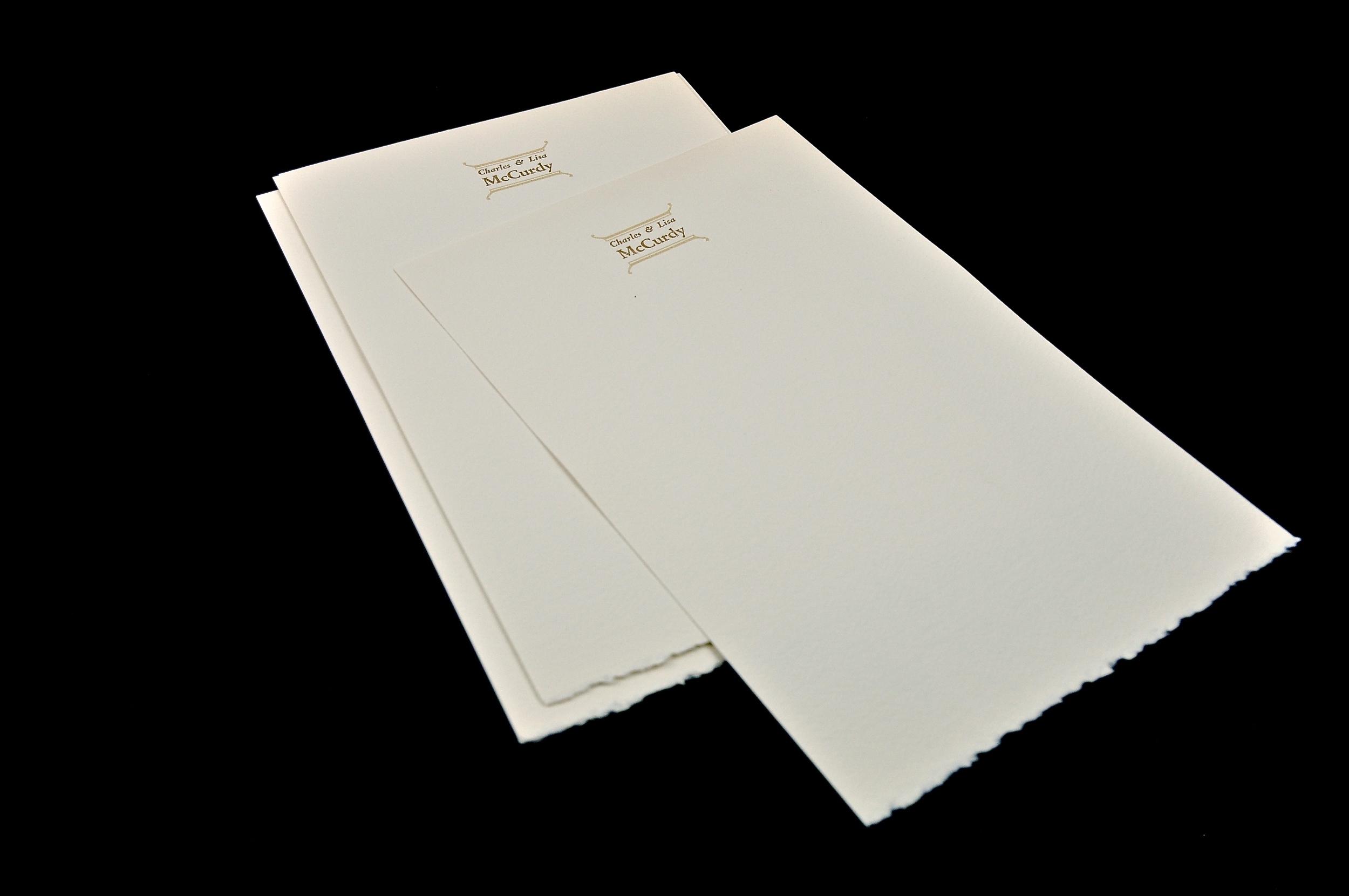 Platen press print