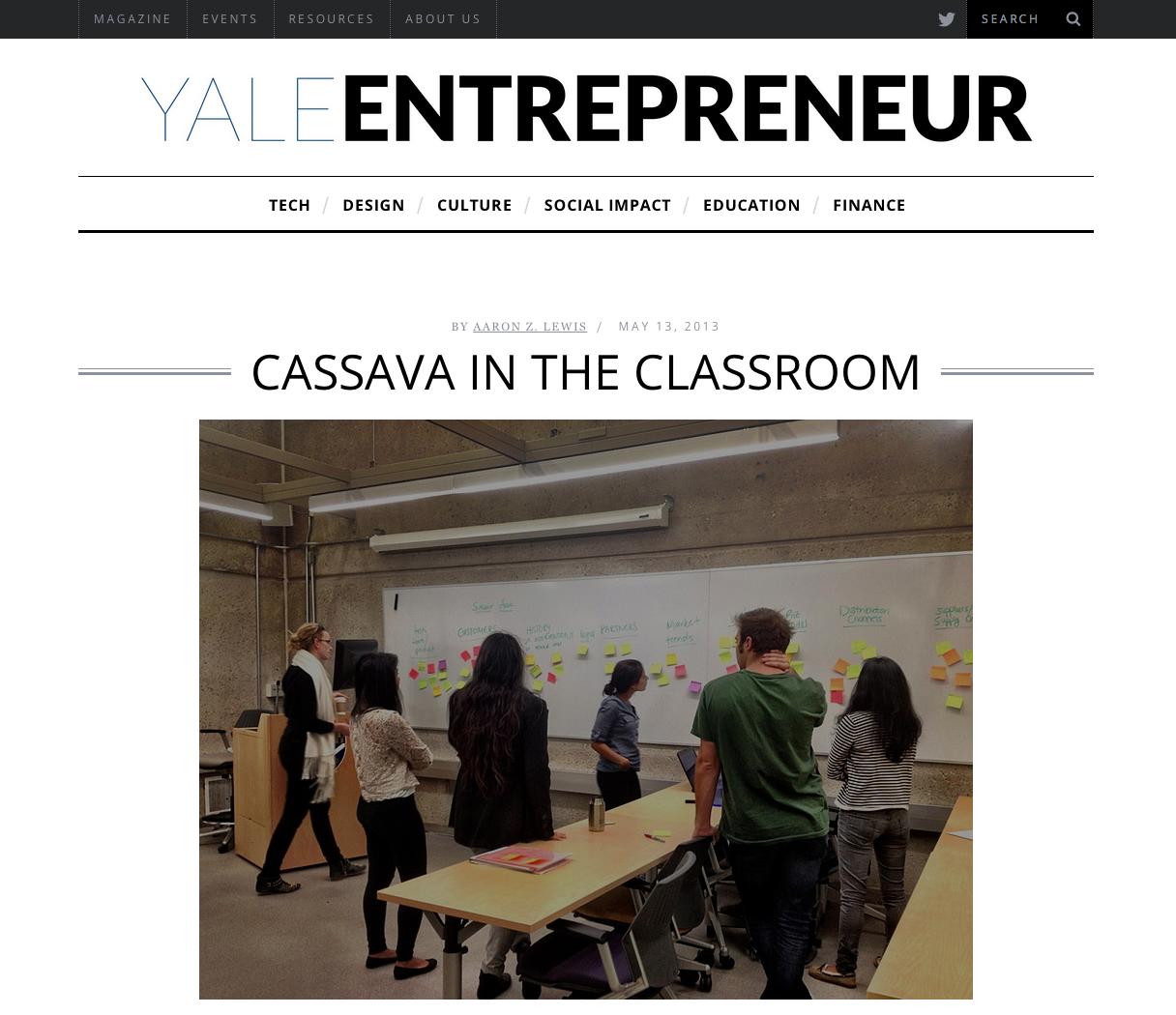 CASSAVA IN THE CLASSROOM