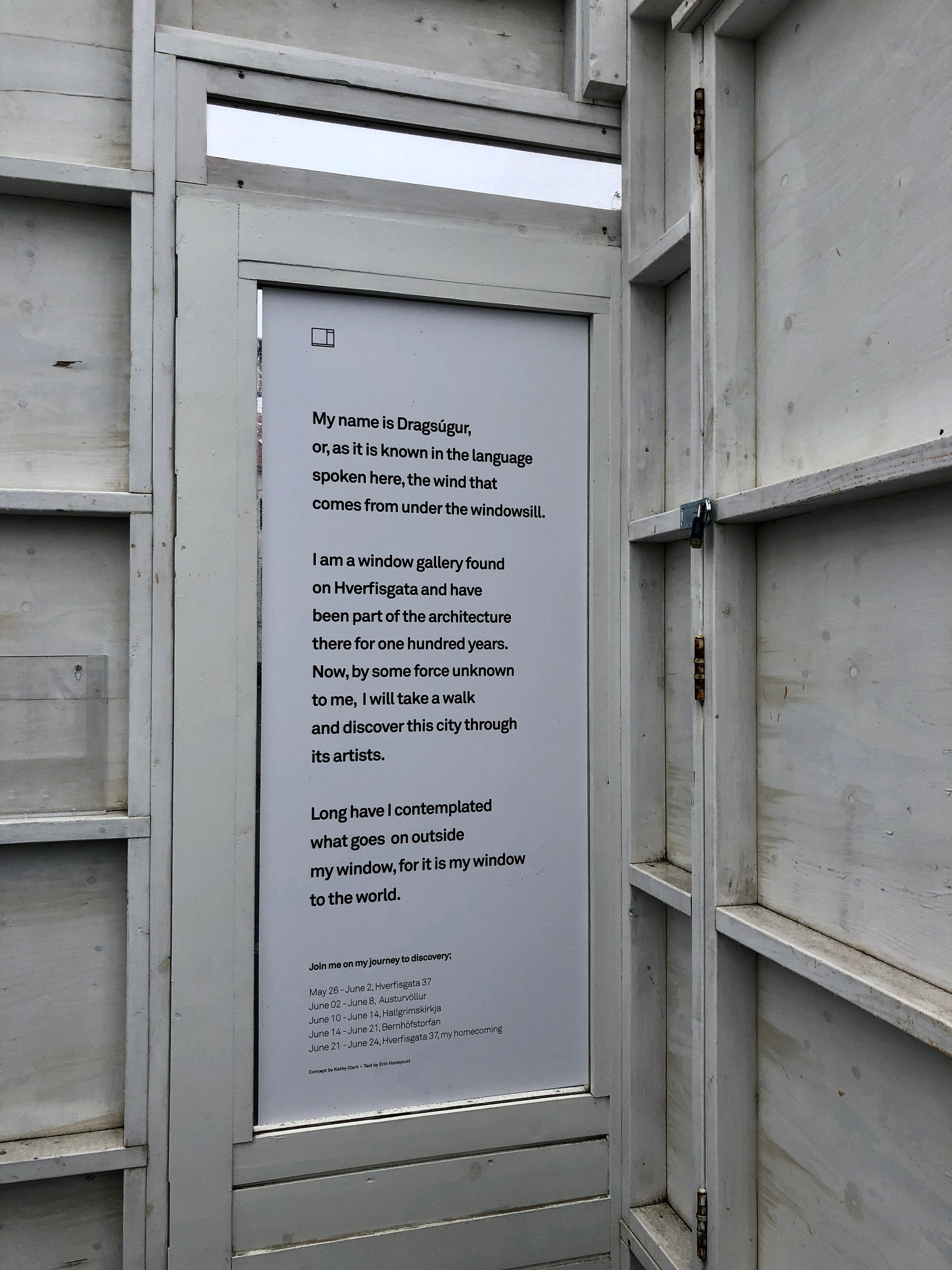 Dragsúgur, The Mobile Window Gallery