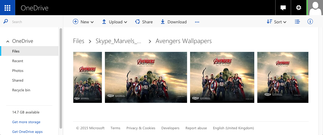 The OneDrive link also housed a selection of custom made wallpapers.