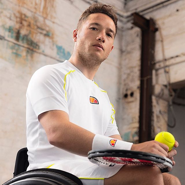 Good luck @alfiehewett6 in the doubles final today. A very talented,  charming and photogenic chap 🎾🔥 #ellesseonpoint