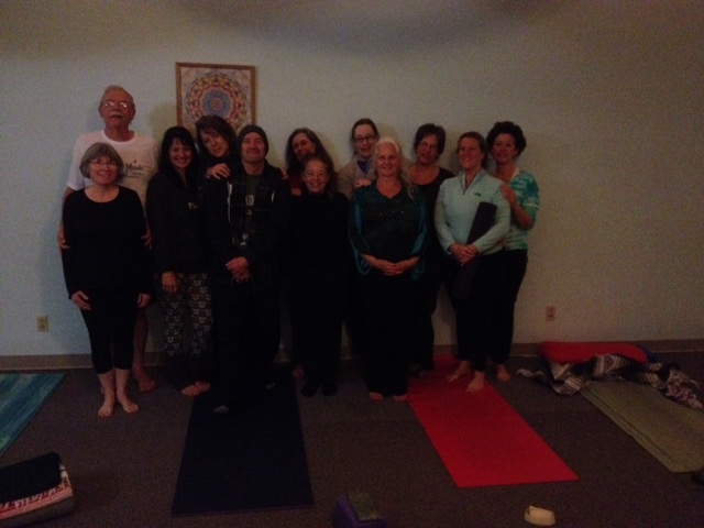 Candlelight yoga New Year's Eve 2014 -Yogis  ending the year on a peaceful note