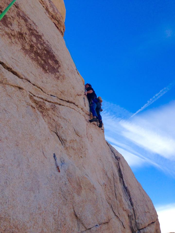 Michael beginning the 5.11a portion of Blind Ambition