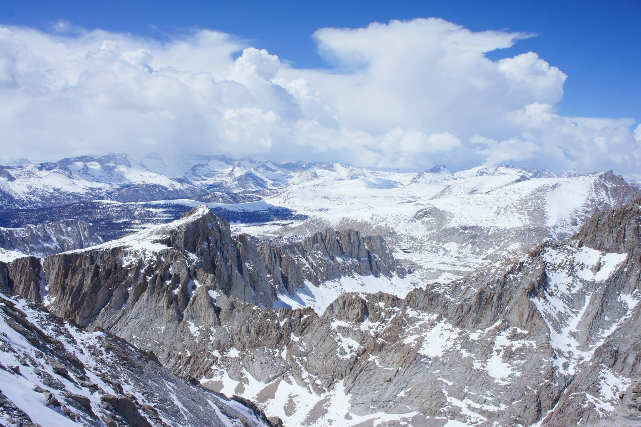 View from Mt. Whitney back in 2014.