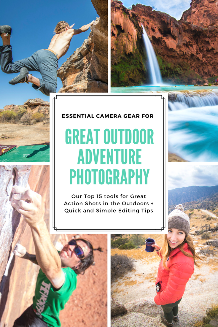Adventure Photography Toolkit- Our Tools for Taking Great Photos Outdoors   We often get asked about what kind of photography and videography gear we use outside, so we wrote up a list of our favorite photography tools for getting the ultimate adventure shot. The list includes our recommendations for cameras, lenses, drones, accessories plus some quick and simple editing tips for outdoor photography.    shedreamsofalpine.com