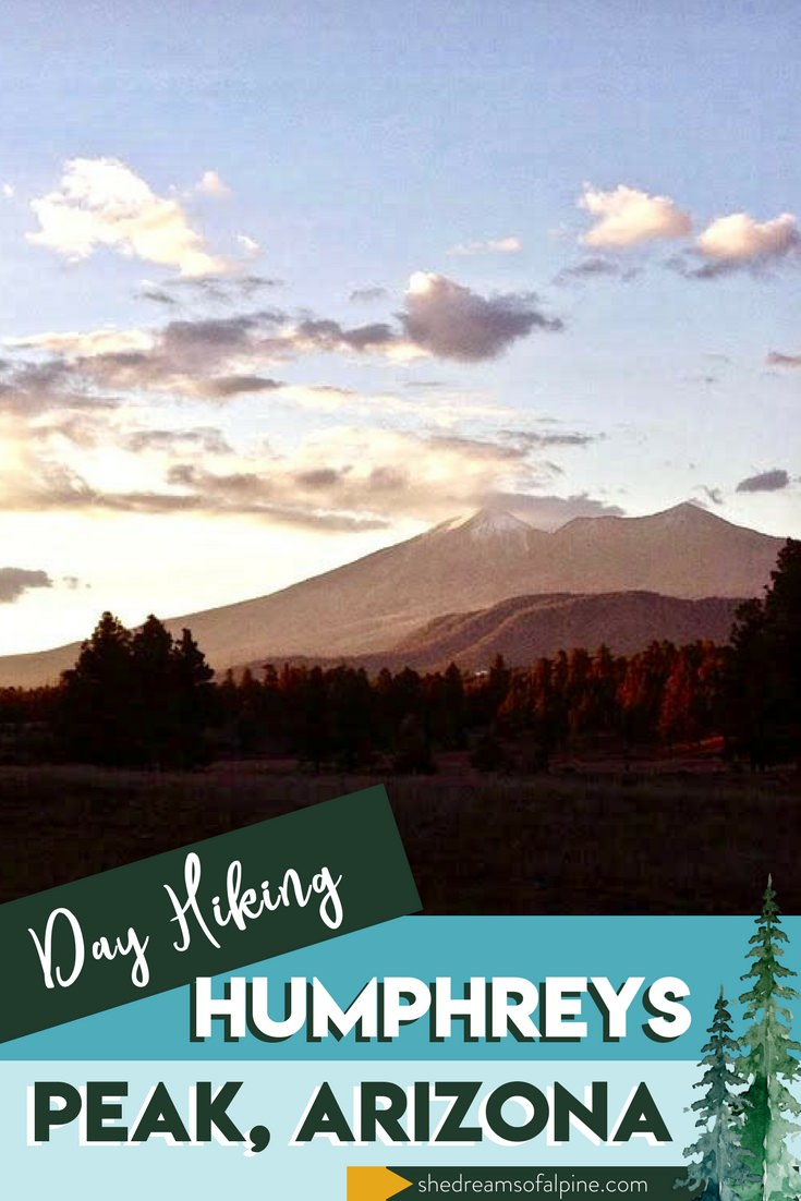 10 Miles Day Hiking Humphreys Peak Arizona  |  The Humphreys Peak Trail, located just north of the city of Flagstaff, Arizona, is one of the most popular hiking trails in the entire state. At 12,633 feet, the summit of Mt. Humphreys marks the highest point in all of Arizona. Be sure to put this hike on your bucket list! Happy Hiking! | shedreamsofalpine.com