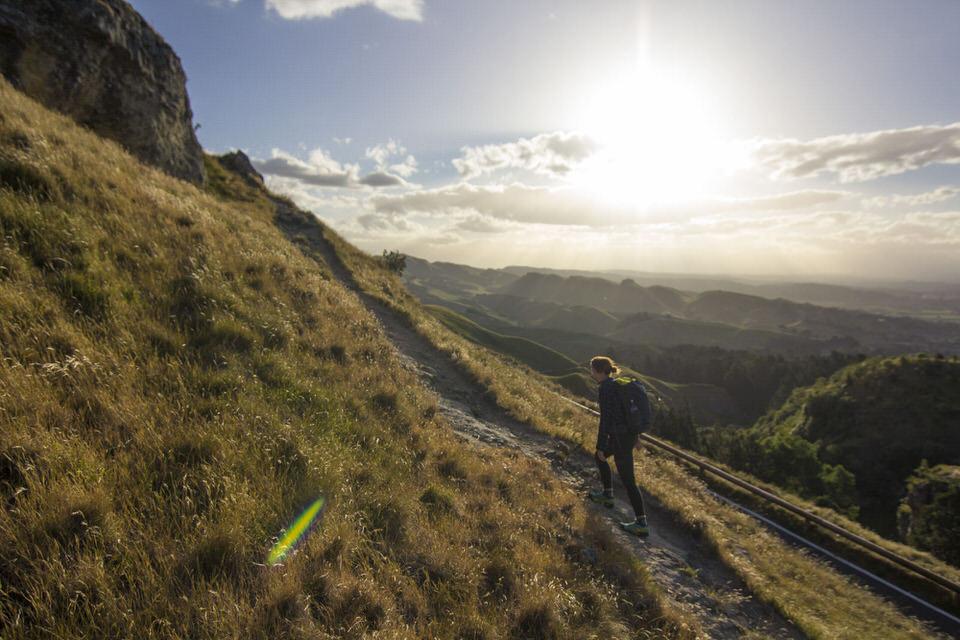 girl-hiking--mata-peak-new-zealand-north-island