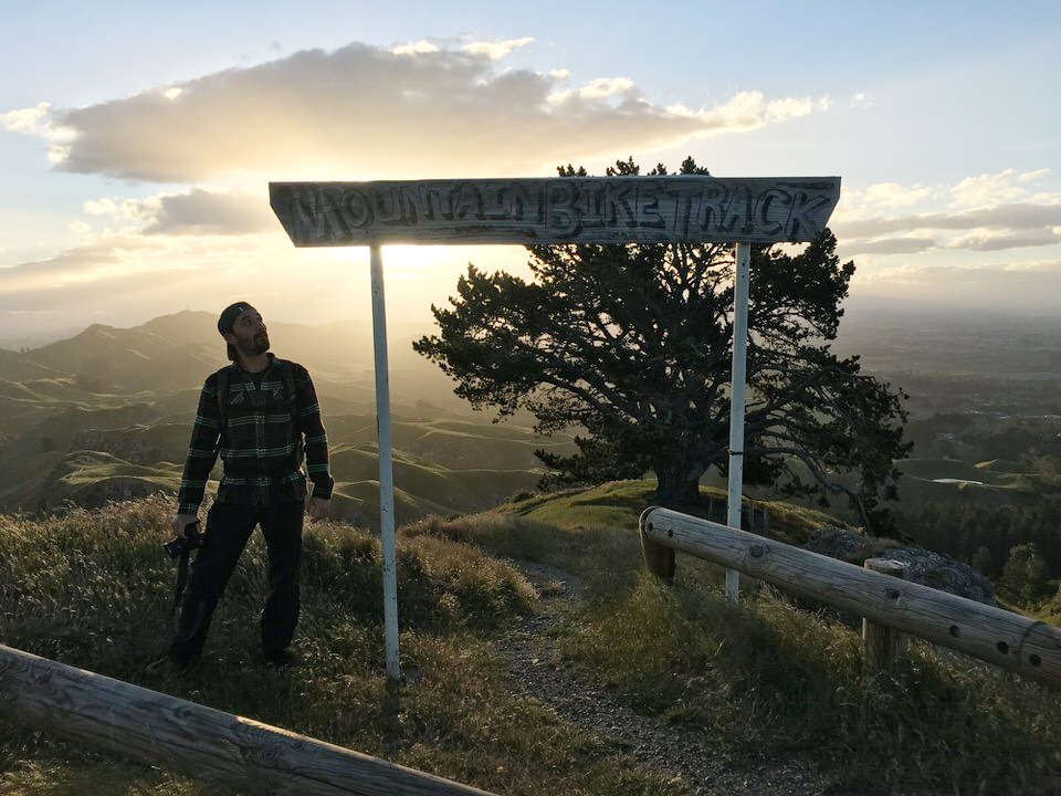 mountain-bike-sign-mata-peak-new-zealand-north-island