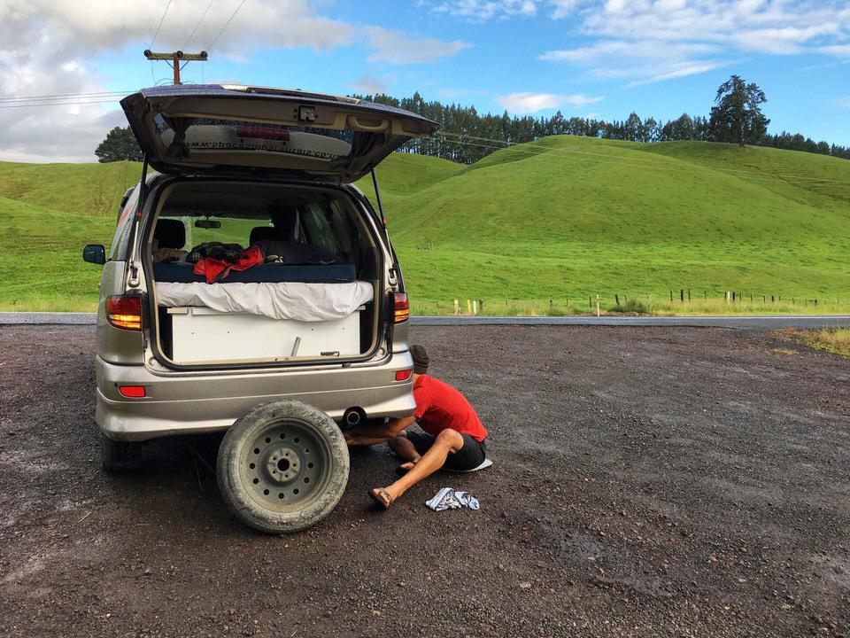 fixing-a-flat-tire-new-zealand