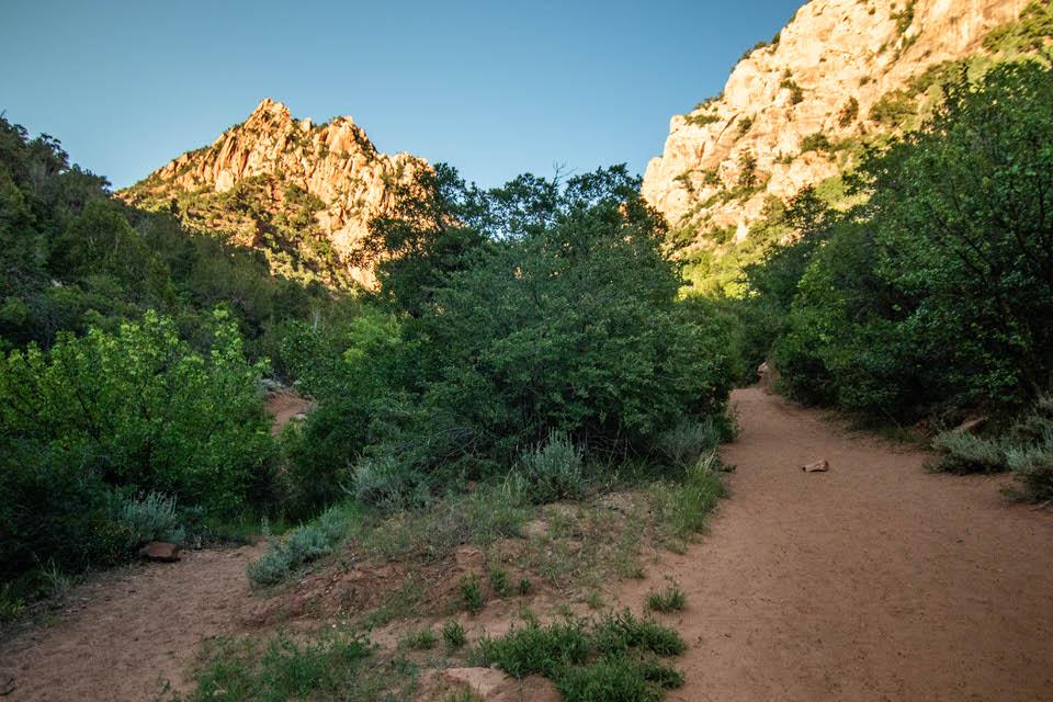 Beginning of Kanarra Creek Trail.