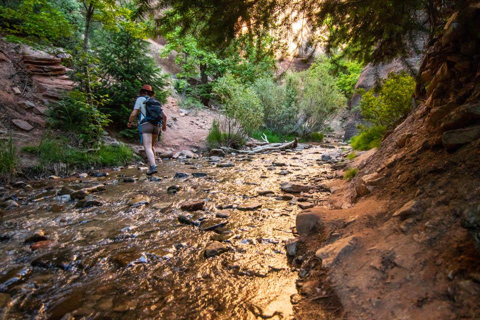 Crossing Kanarra creek.