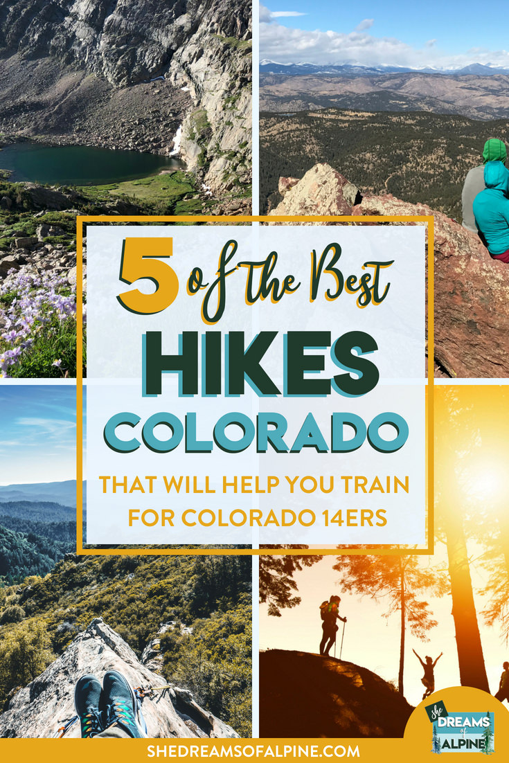 5 of the Best Colorado Day Hikes to Help you Train for Colorado 14ers   | Colorado is well known for its list of big 14,000 foot peaks, and if you are keen to tackle some of them it's good to get a few training hikes under your belt before your big summit adventures. In this post we talk about 5 of the best Colorado day hikes as well as great training hikes for Colorado's big fourteener mountains. Be ready for summit day with these 5 amazing but leg busting hikes. You'll be at 14,000 feet in no time! |  shedreamsofalpine.com