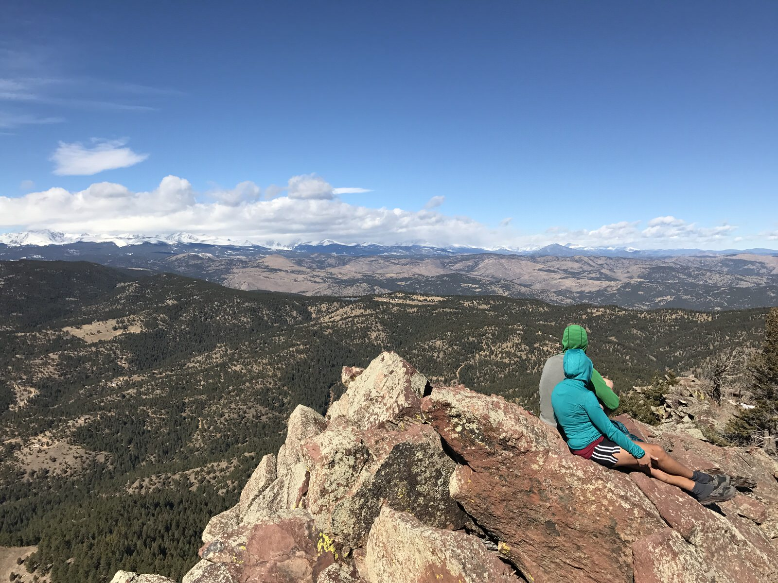 Looking West from the Summit of South Boulder Peak.