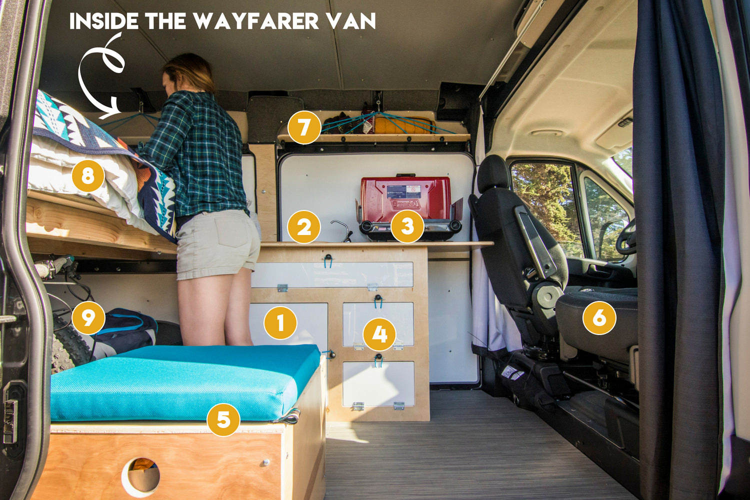 An inside look at the campervan conversion kit from Wayfarer Vans.