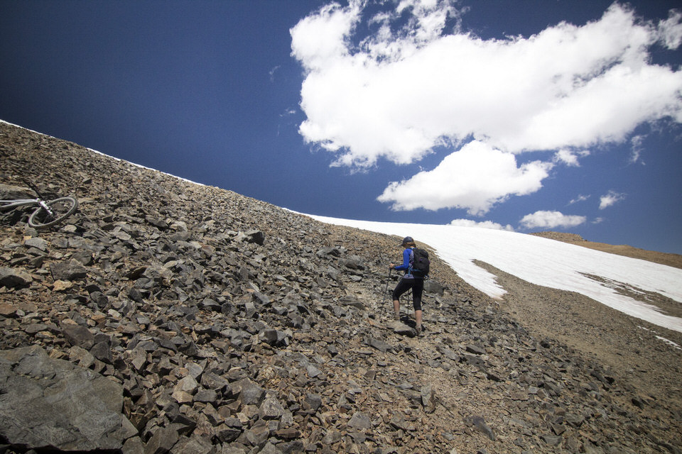 Headed up the final steep section toward the summit.