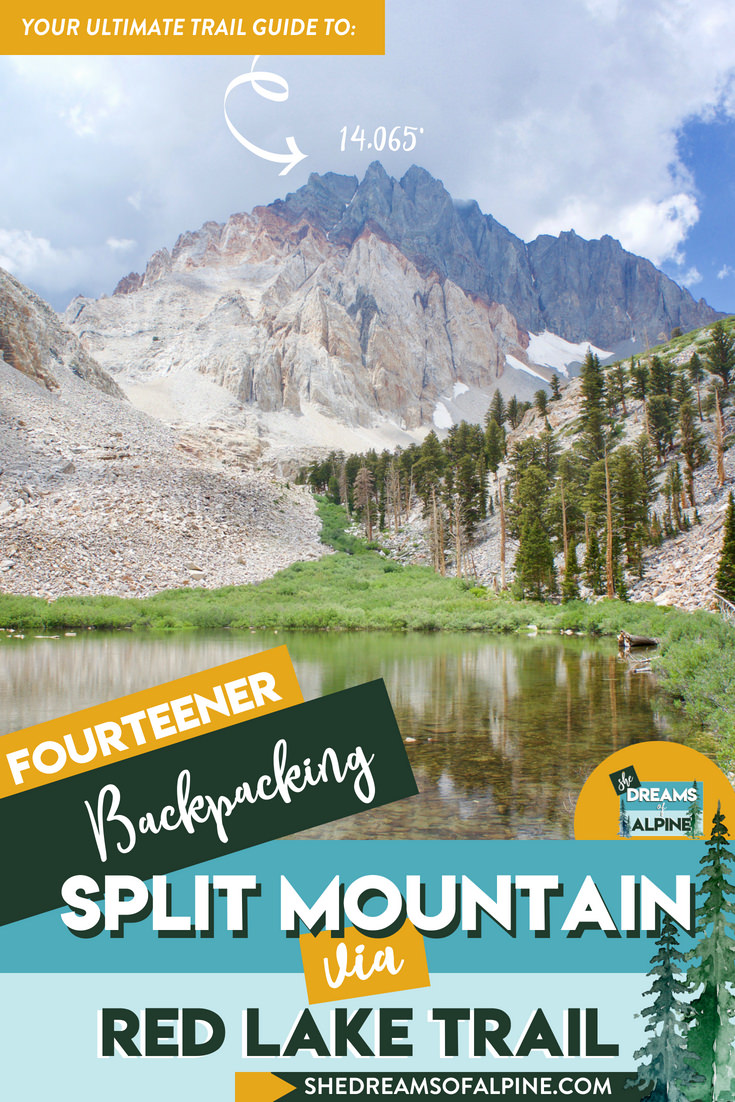 Ultimate Guide to Hiking Split Mountain - California Fourteener    Split Mountain is a lesser-known California 14er, but with equally beautiful views and scenes into the Sierra Nevada backcountry. The Split Mountain hike is not the best beginner 14er, but if you are looking to test your class 2 hiking skills in the mountains, this is a great, steep and challenging summit. In our guide we go over the essential details of planning your hike up this California 14er peak.   shedreamsofalpine.com