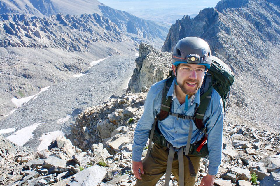 Hiking on the ridge line.