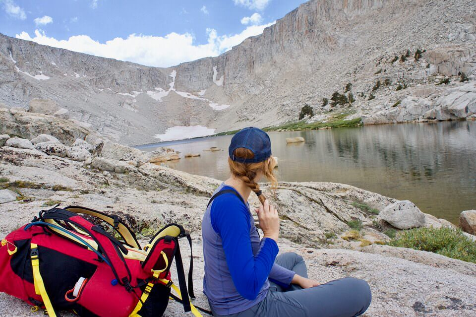 Having a lunch break at the base of Old Army Pass and Cottonwood Lake Number 4