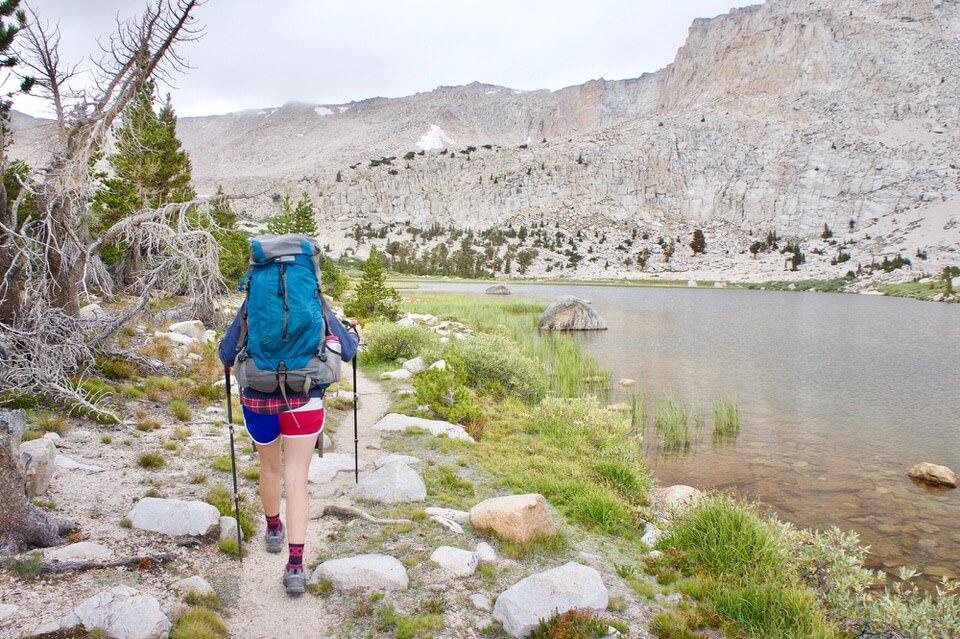 Cara leading the way around Cottonwood Lake Number 3 towards Long Lake.
