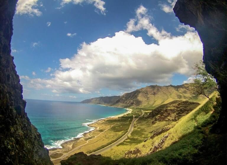 View from Upper Makau Cave, one of my favorite Oahu hiking trails!