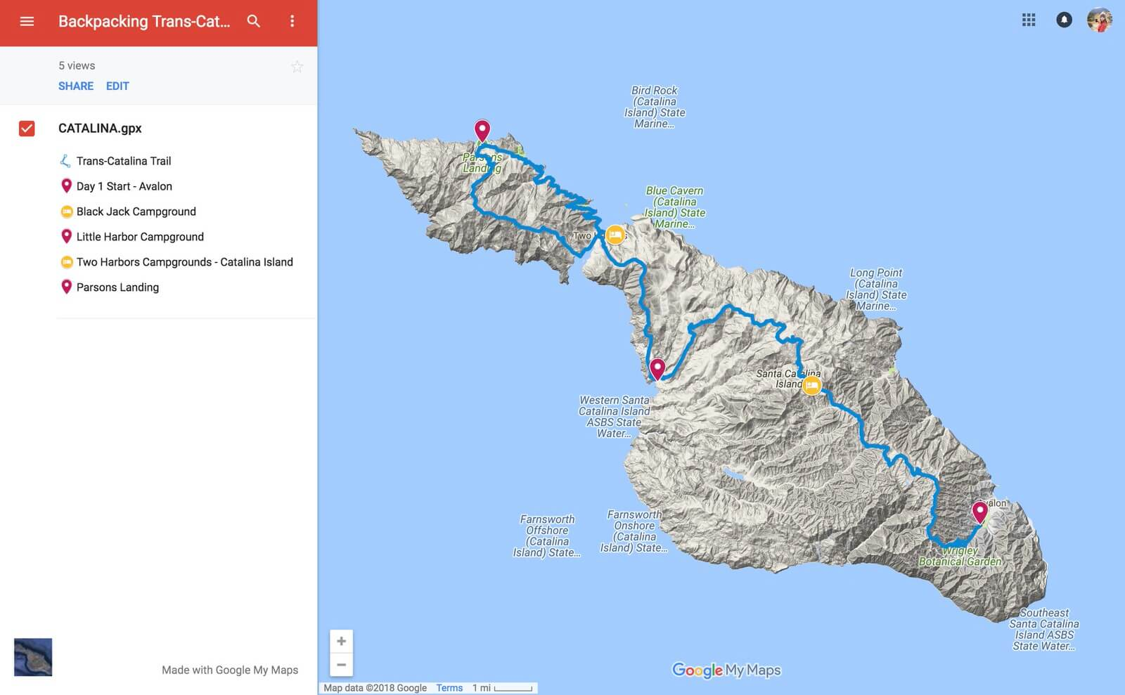"""Backpacking the Trans-Catalina Island Trail in California  