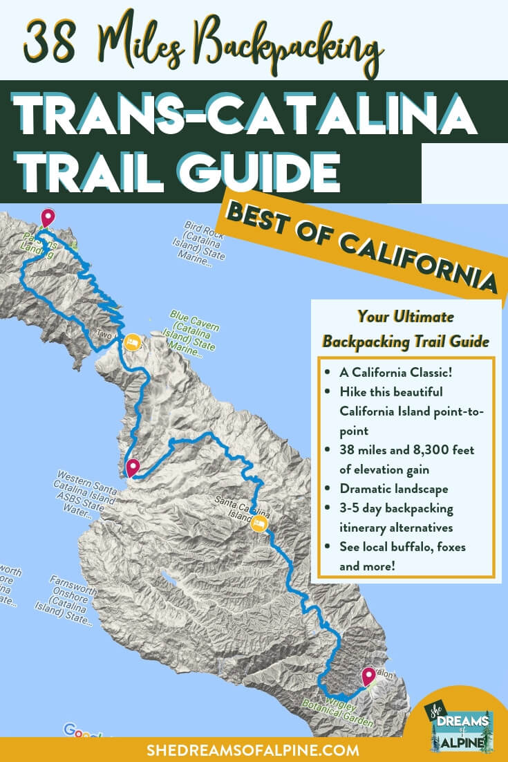 Ultimate Guide to Backpacking Trans-Catalina Trail Catalina Island California