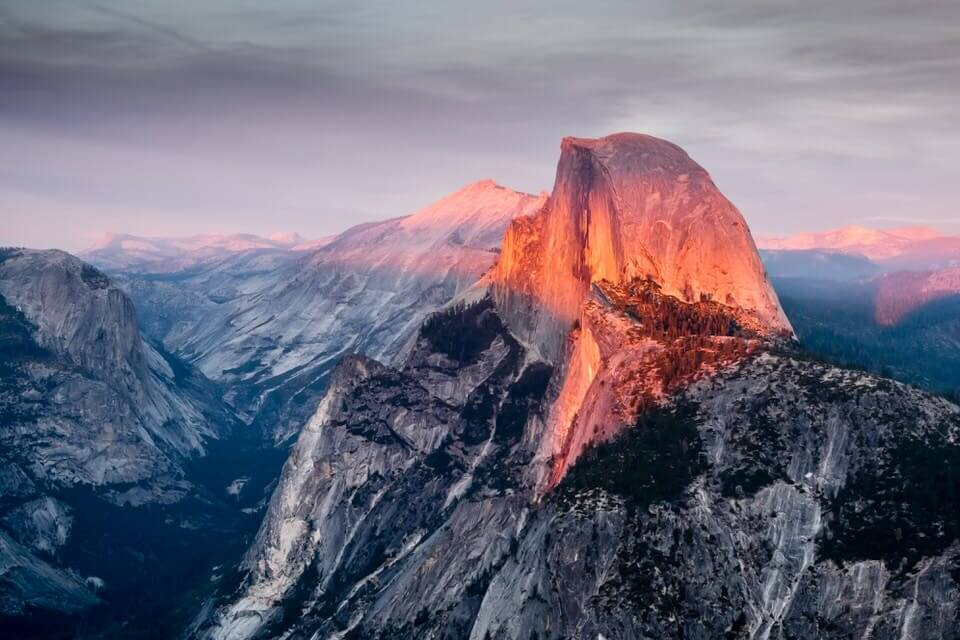 There is nothing more inspiring than looking at Half Dome at Sunset.