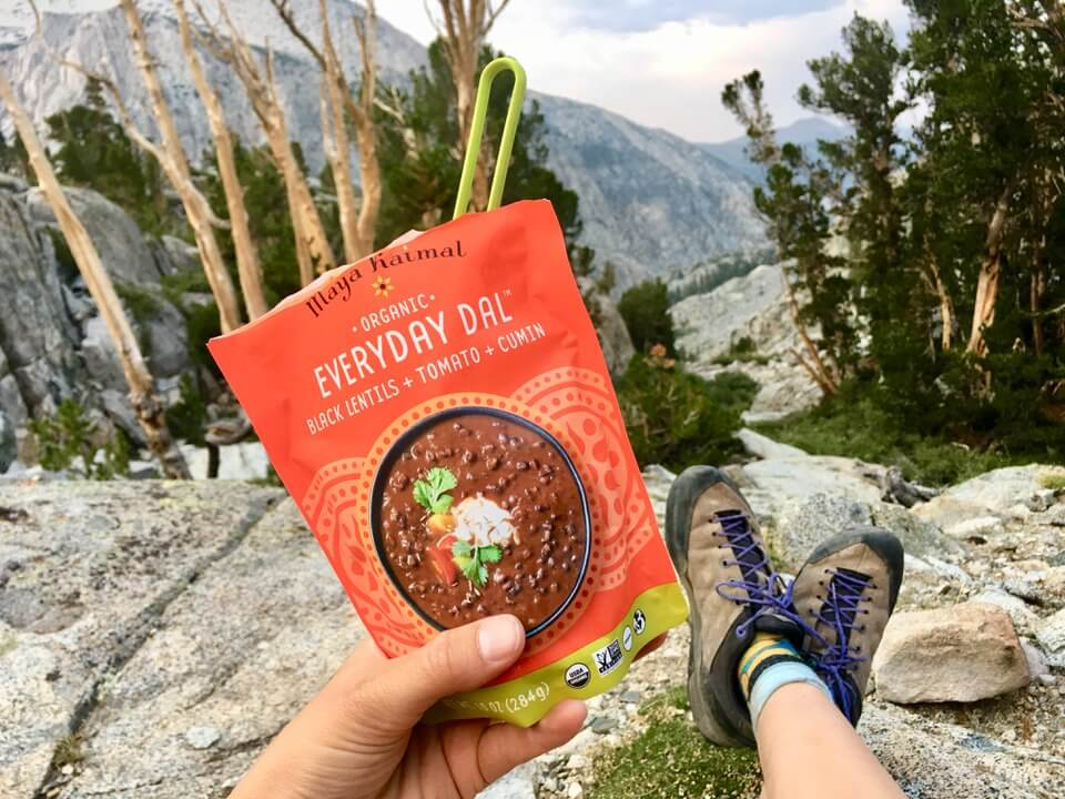 I recently took Maya Kaimal everyday dals on my backpacking trip up Split Mountain.