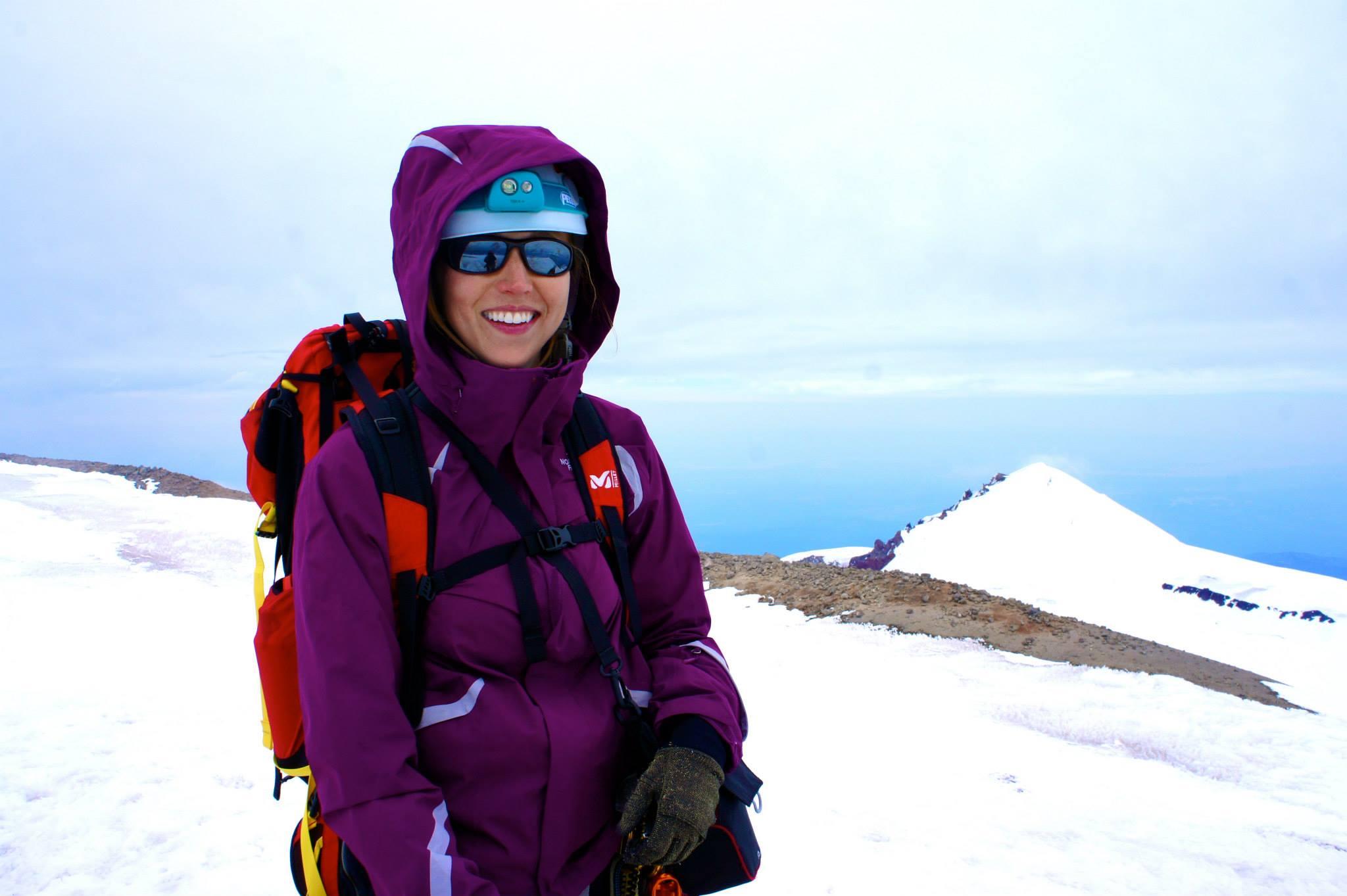 On the summit of Mt. Rainier.