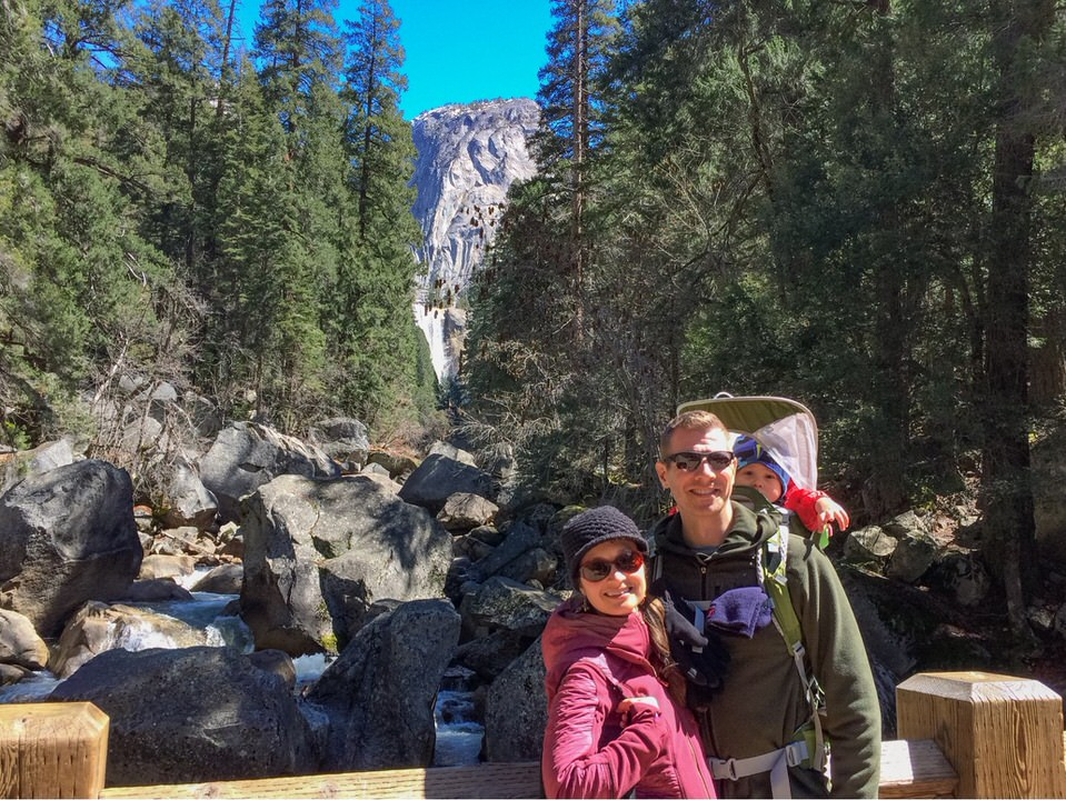 If you choose to hike to Vernal Falls footbridge, you're in for an easier hike, but still amazingly beautiful views of Yosemite!