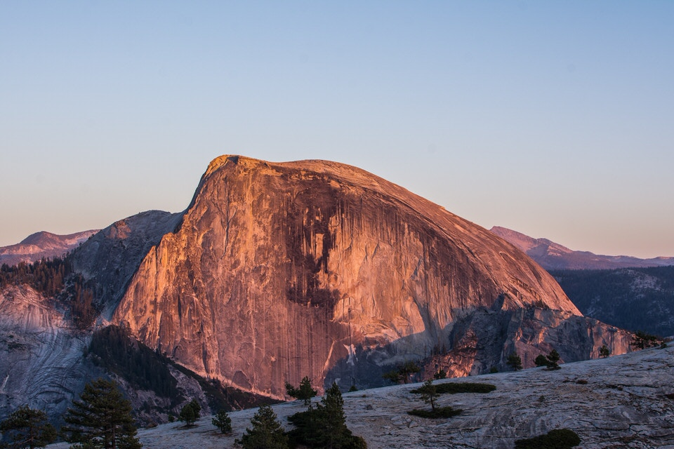 The North Dome hike is one of the best Yosemite trails and gives you a unique view of the face of Half Dome.