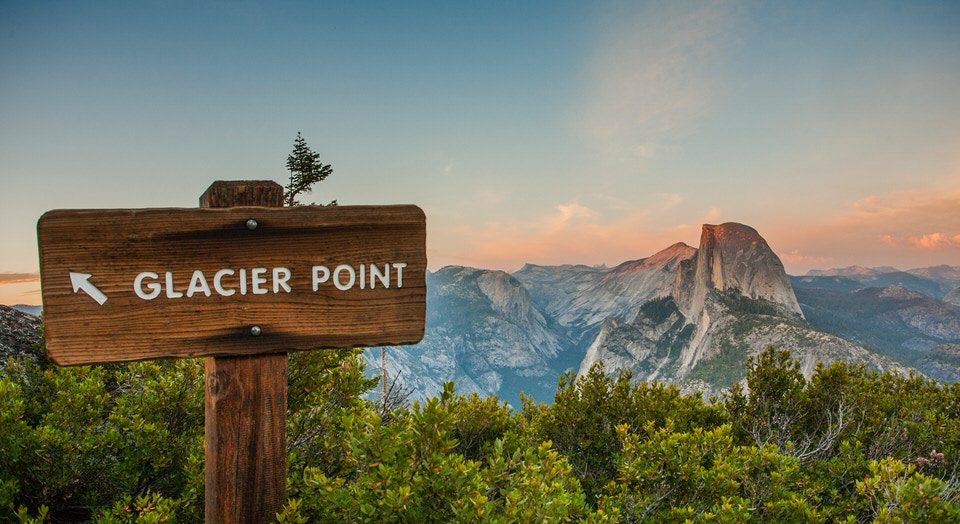If you are looking for great views but don't have a long time to hike, then drive up to glacier point and hike a short distance for an awesome view of Half Dome at Glacier Point!