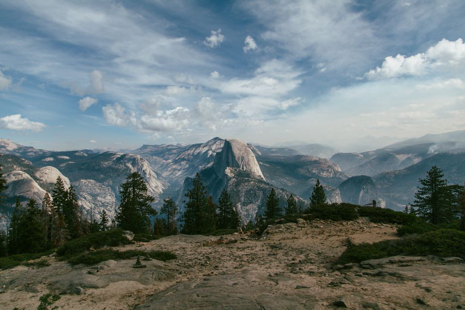Capture great views of Half Dome from the base of Sentinel Dome.