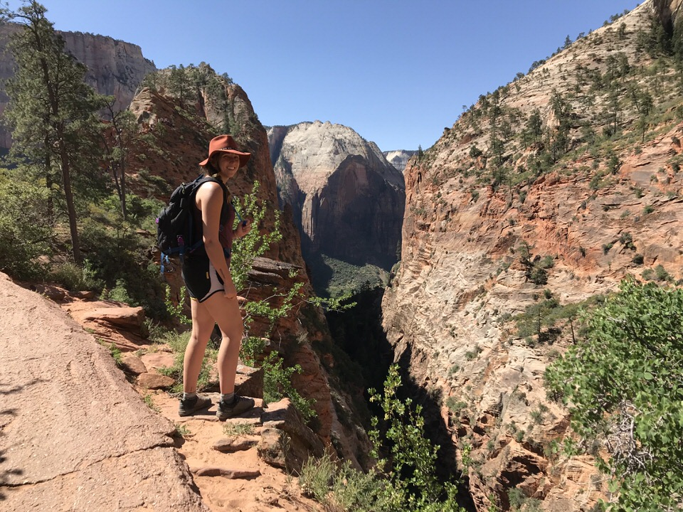 Me on my way up the Angels Landing Trail.