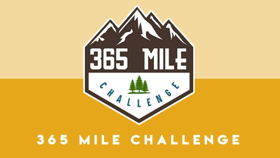 Hike at least 1 mile every day to participate in the 365 mile challenge!