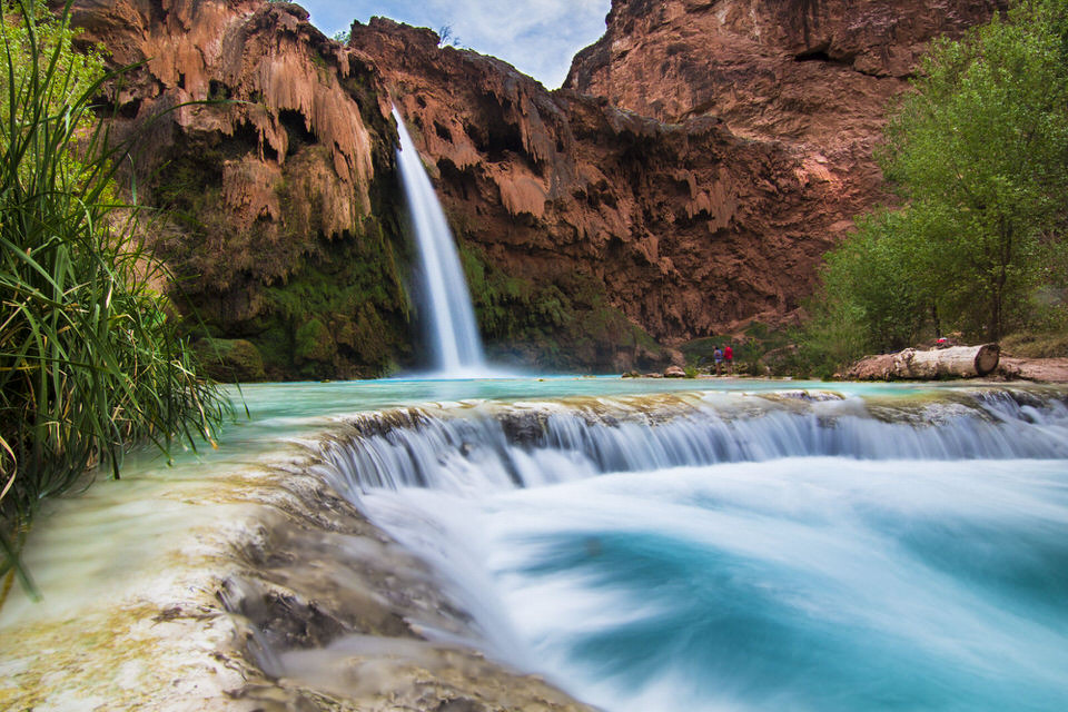 Our tips for taking great Havasupai Falls Photos, like this one!
