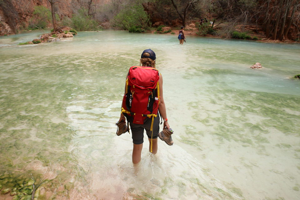 Hiking through Havasu creek
