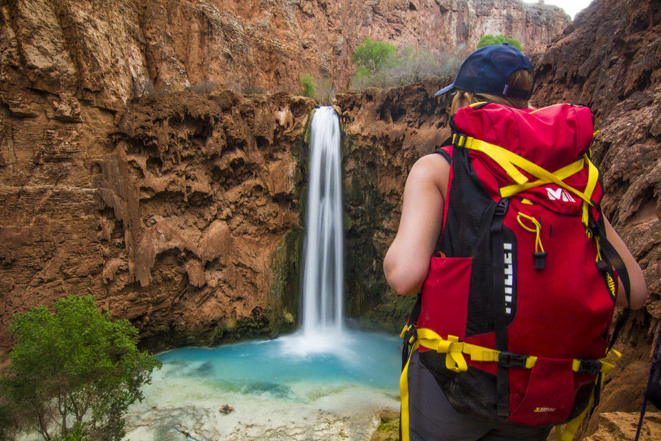 Backpacking to Havasu falls with my backpacking gear on.