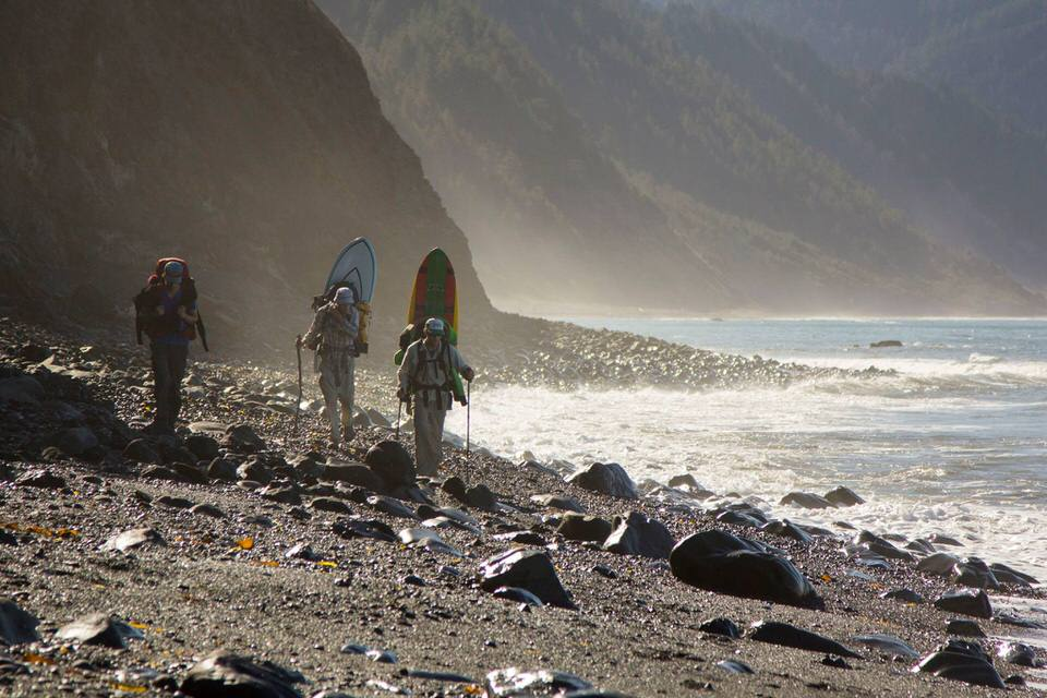 The group of surfers we saw on the Lost Coast Trail