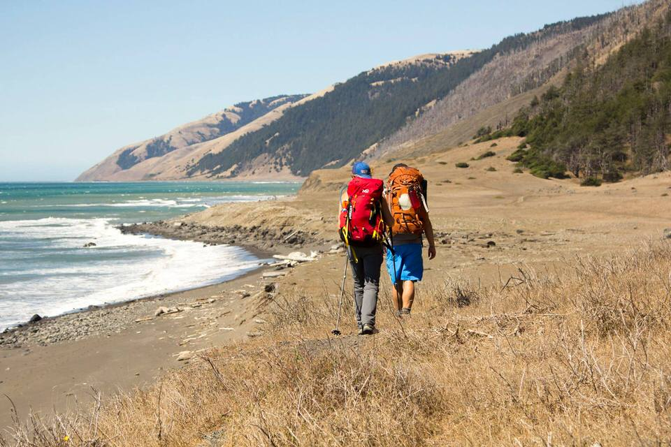 Backpacking the Lost Coast trail starting from Shelter Cove area.